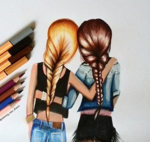 1ecbbef3e0026ed9a0aba2b2fb66effd--besties-drawing--friends-drawing