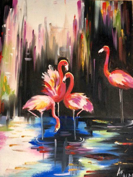 Фламинго в водопаде Симкина Анастасия КЖУН 234 (1)
