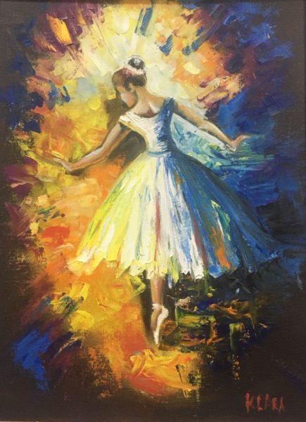 Балерина Ученица Харламова Лариса холст картон 30х40 УЧУН002