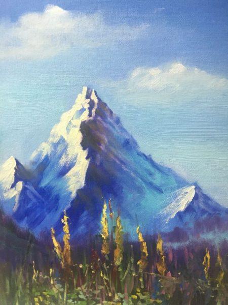 Гора и желтые цветы Шпитонкова Александра КЖКВ343