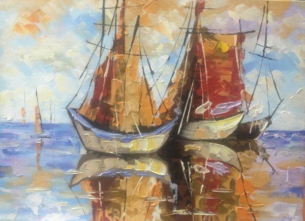 Лодки в море Бхаскер Жанна КЖКВ384