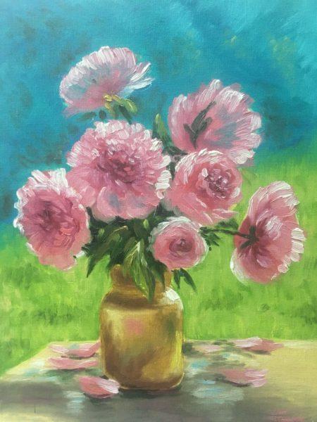 Розовые цветы Баринова Мария КЖКВ346