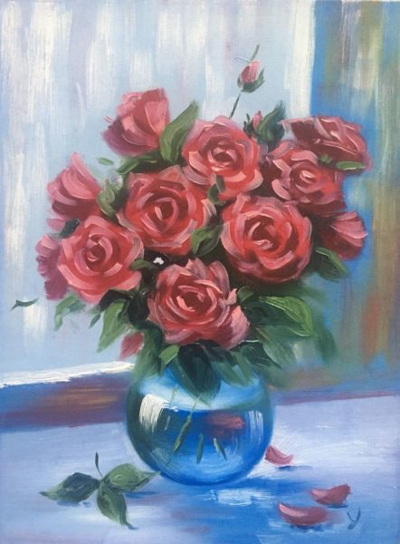 Розы в вазе Ласунова Ульяна КЖКВ355