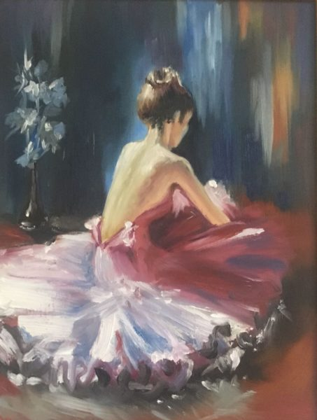 Танцовщица Ученица Харламова Лариса холст картон 30х40УЧУН003