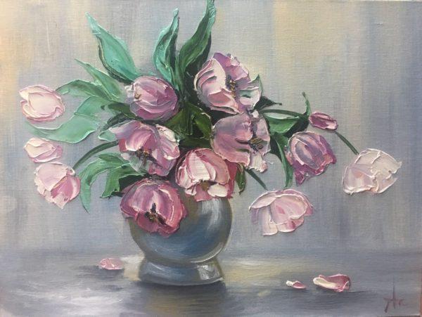 Тюльпаны в вазе Шпитонкова Александра КЖКВ362